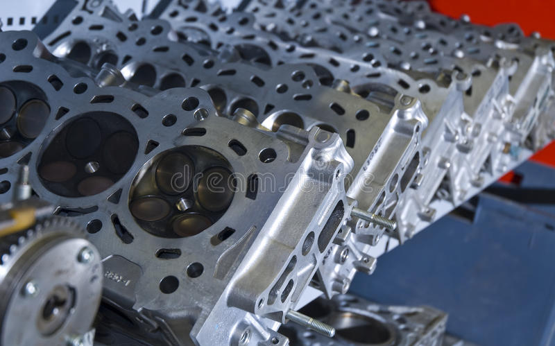 Download Cylinder Heads stock image. Image of head, industrial - 10745409