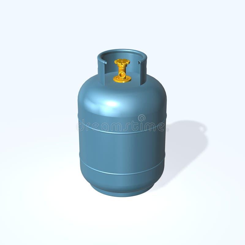 cylindergas stock illustrationer