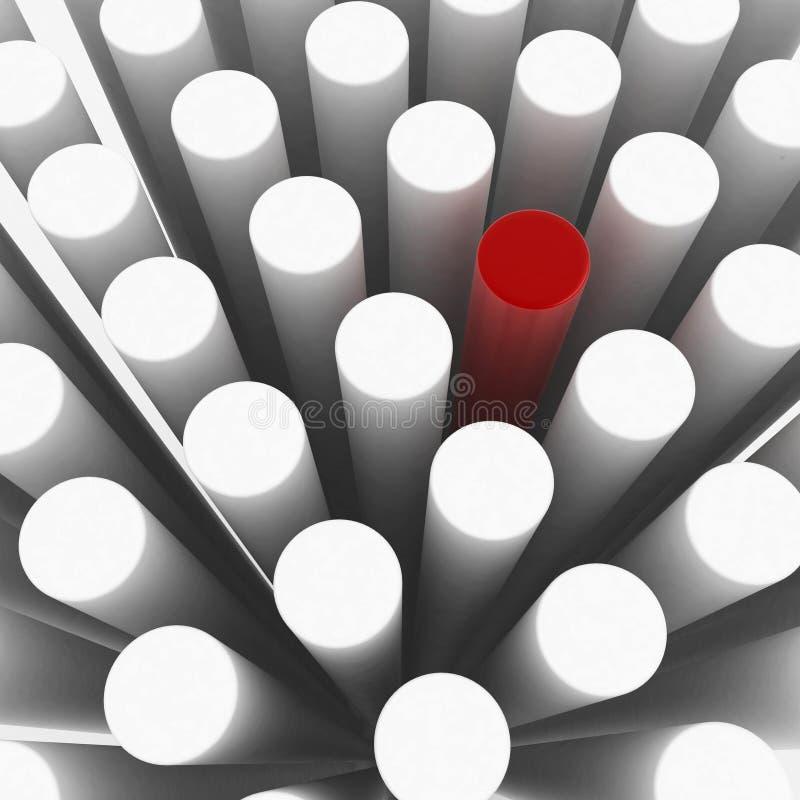 Cylindre impair illustration de vecteur