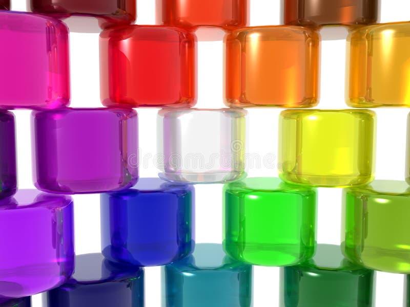 Cylindres de diversité illustration de vecteur