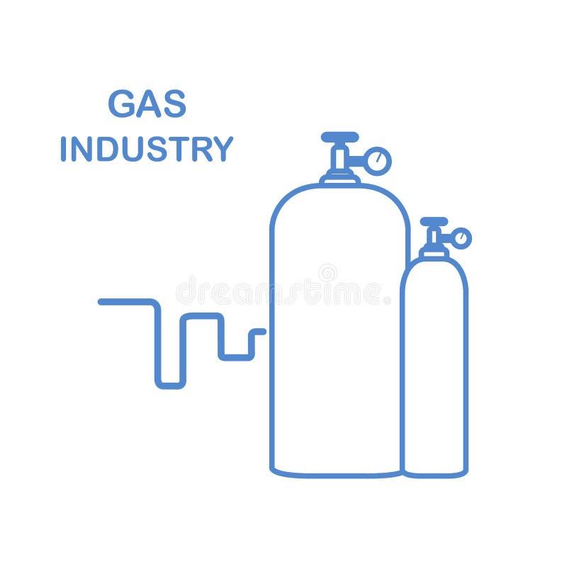 Cylindres de gaz Industrie du gaz illustration stock