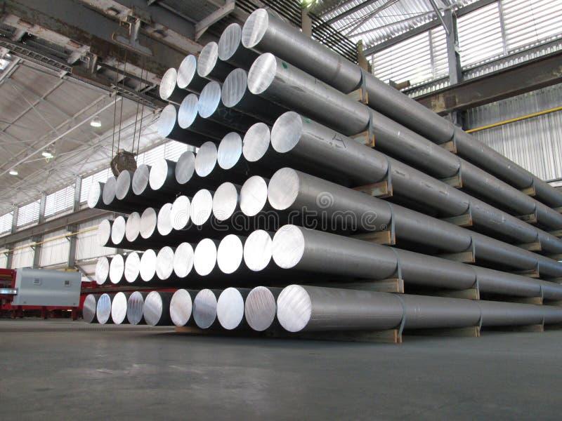 Cylindres en aluminium photo libre de droits