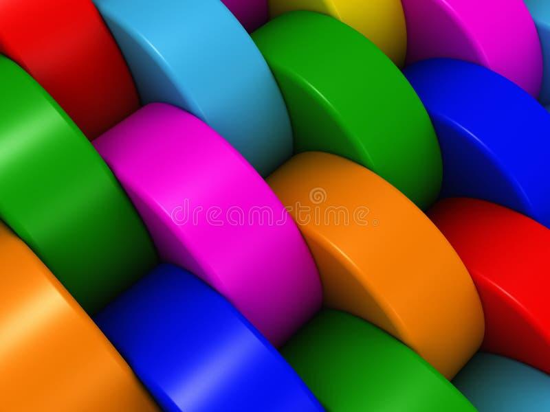 Cylindres multicolores photos libres de droits