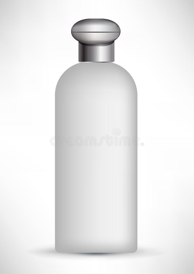Cylindrical cosmetic beauty cotainer stock illustration