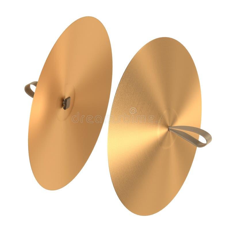 Cymbaler (musikalisk insturment) stock illustrationer