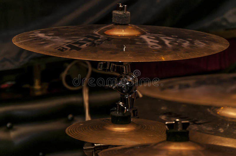 Cymbales d'accident photo stock