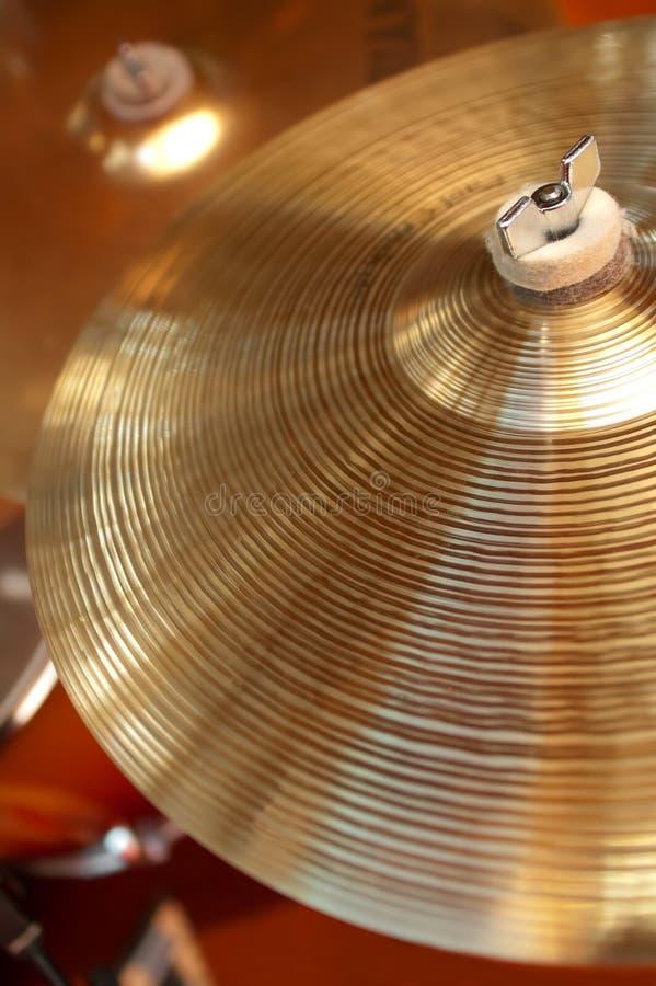 Cymbales de tambour images libres de droits