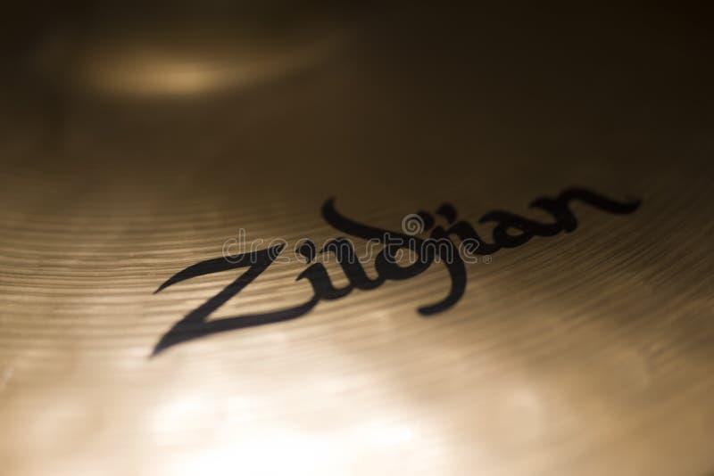 Cymbales de Zildjian à Belgrade, Serbie photographie stock