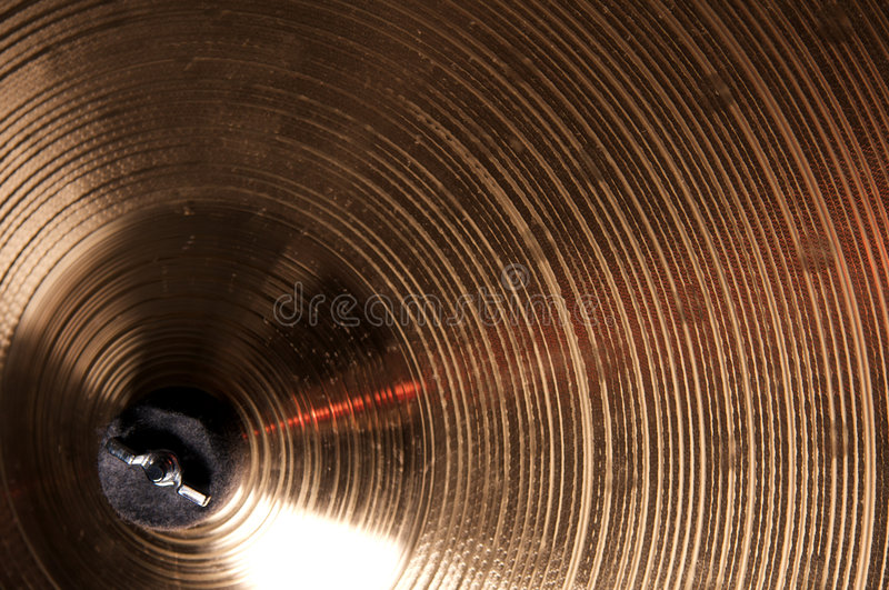 cymbales proches vers le haut images stock