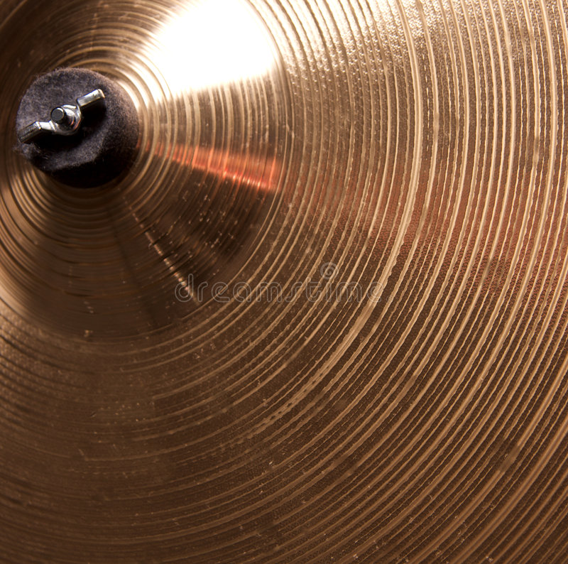 cymbales proches vers le haut photo stock