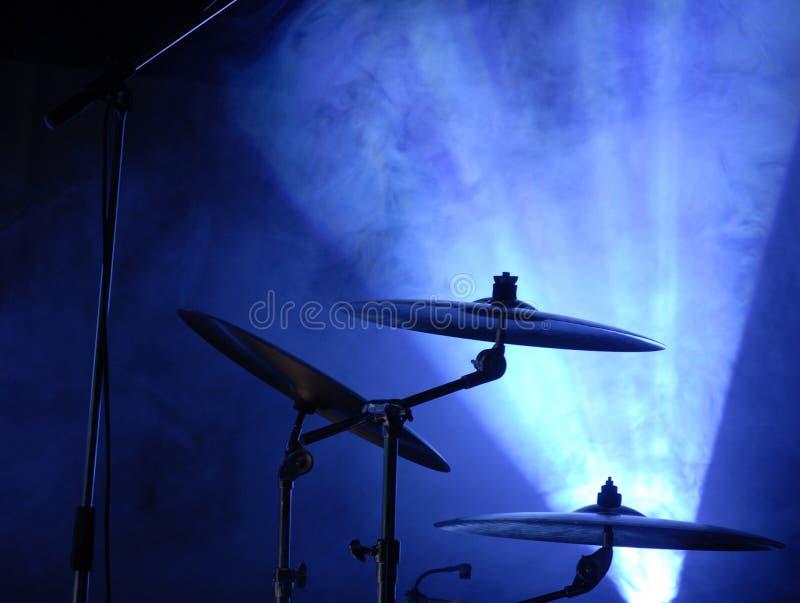Cymbales réglées photographie stock