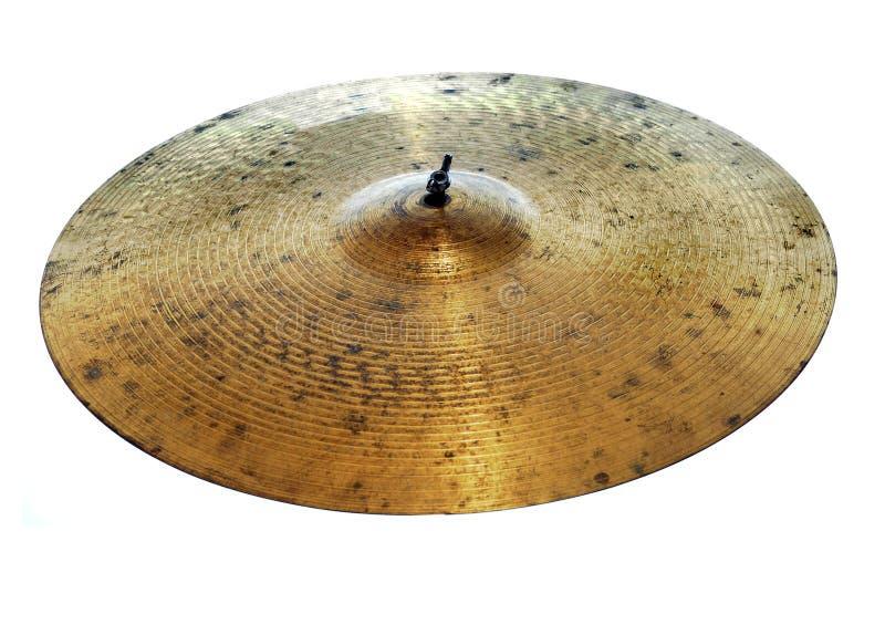 Cymbales utilisées image stock