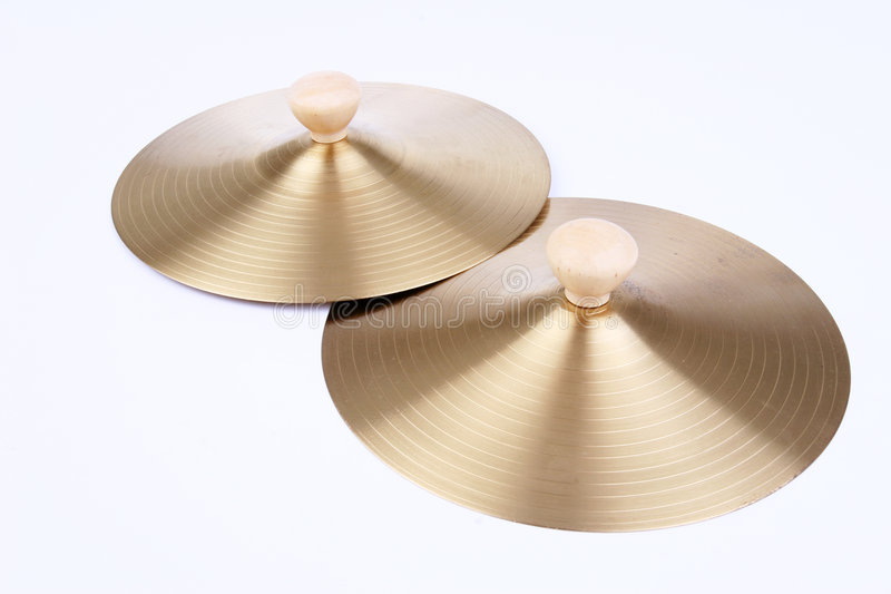 Cymbals stock photo
