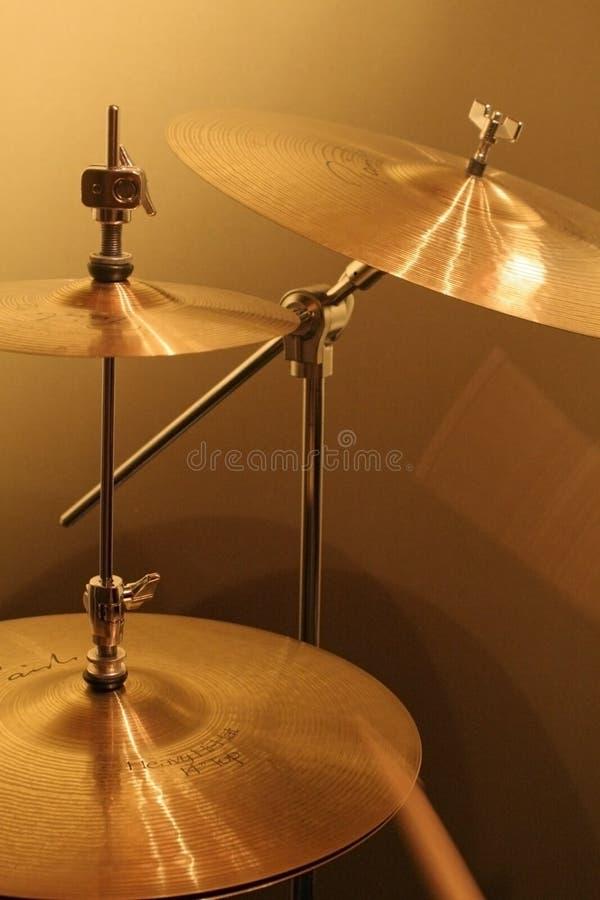 cymbals royaltyfria bilder