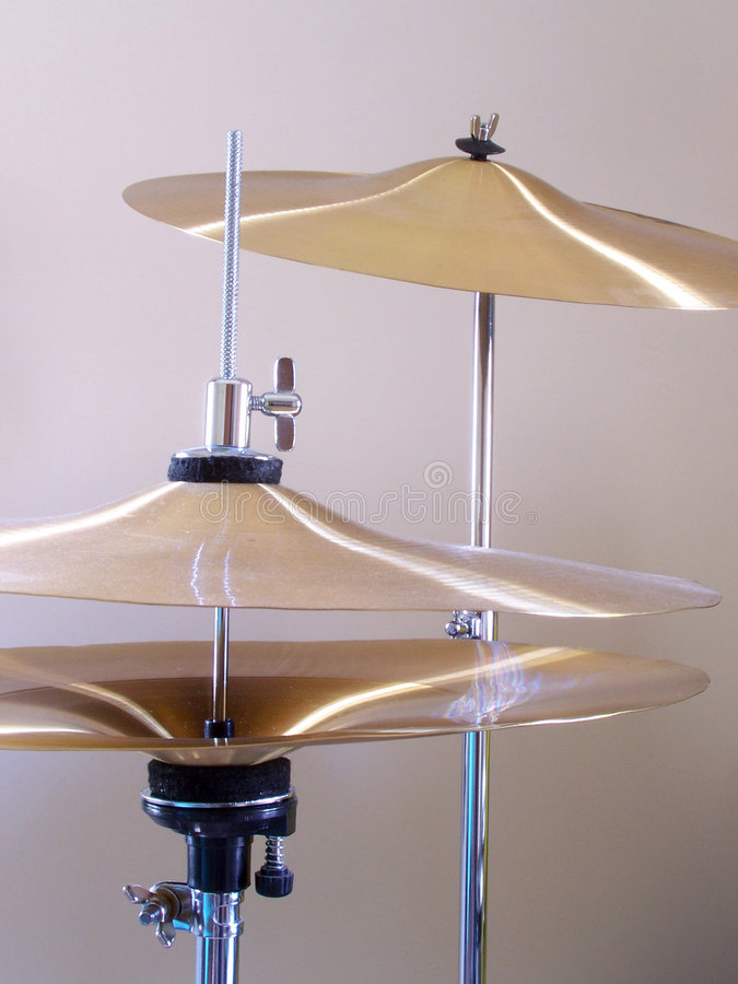 Cymbals stock photography