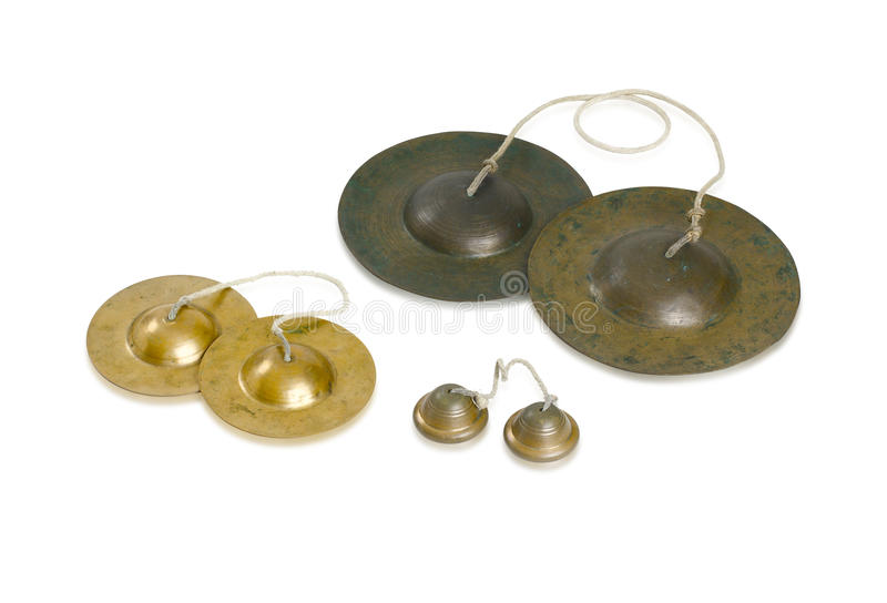 Cymbals Thai Music Instrument stock photos