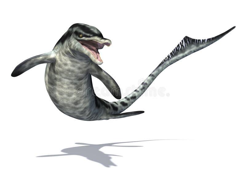 Cymbospondylus - Prehistoryczna Podmorska istota ilustracji