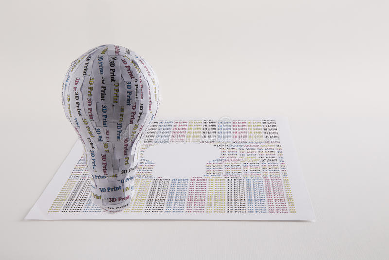 CYMK 3D Printer concept: lightbulb