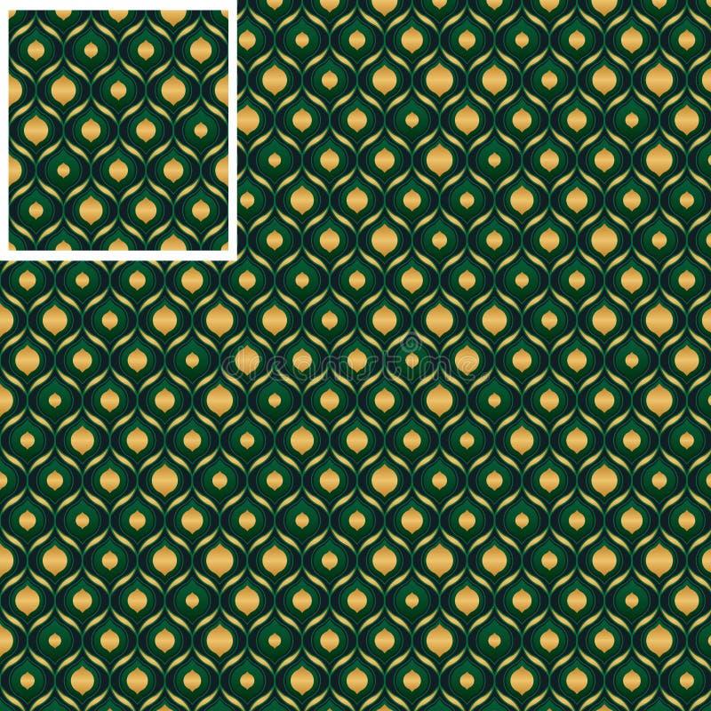 Cymy zielonego złota bezszwowy wzór