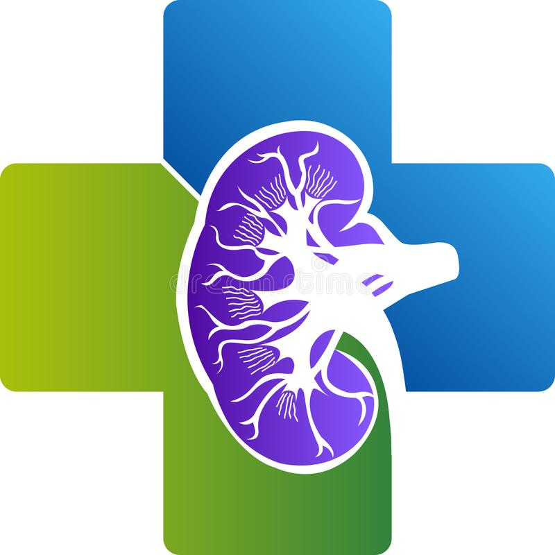 Cynaderki szpitala logo ilustracja wektor