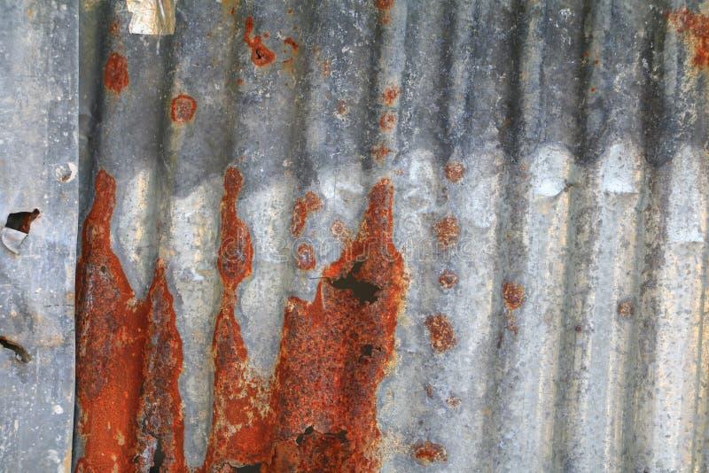 Cynkowego ściennego tekstura wzoru tła ośniedziałego panwiowego metalu stary gnicie obraz stock