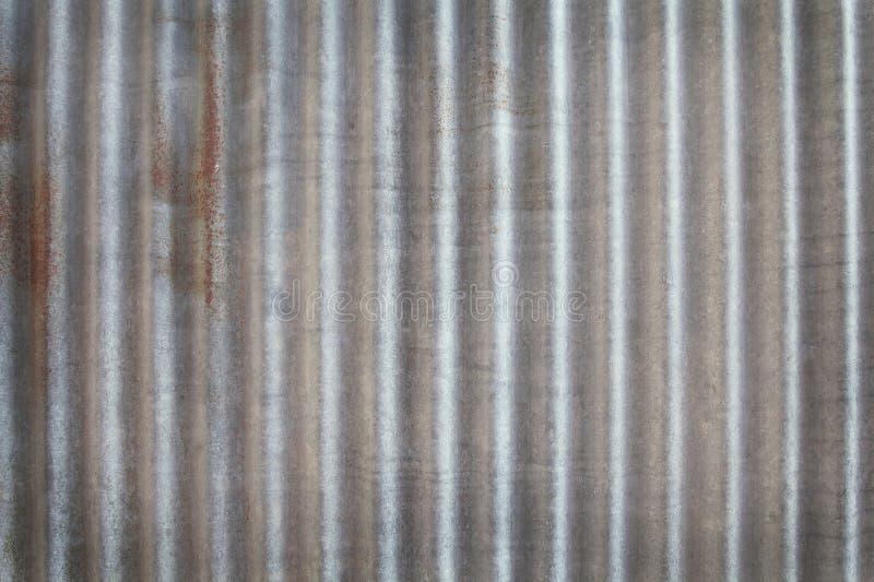 Cynkowy tekstury tło Ośniedziały na galwanizującym metalu obraz stock