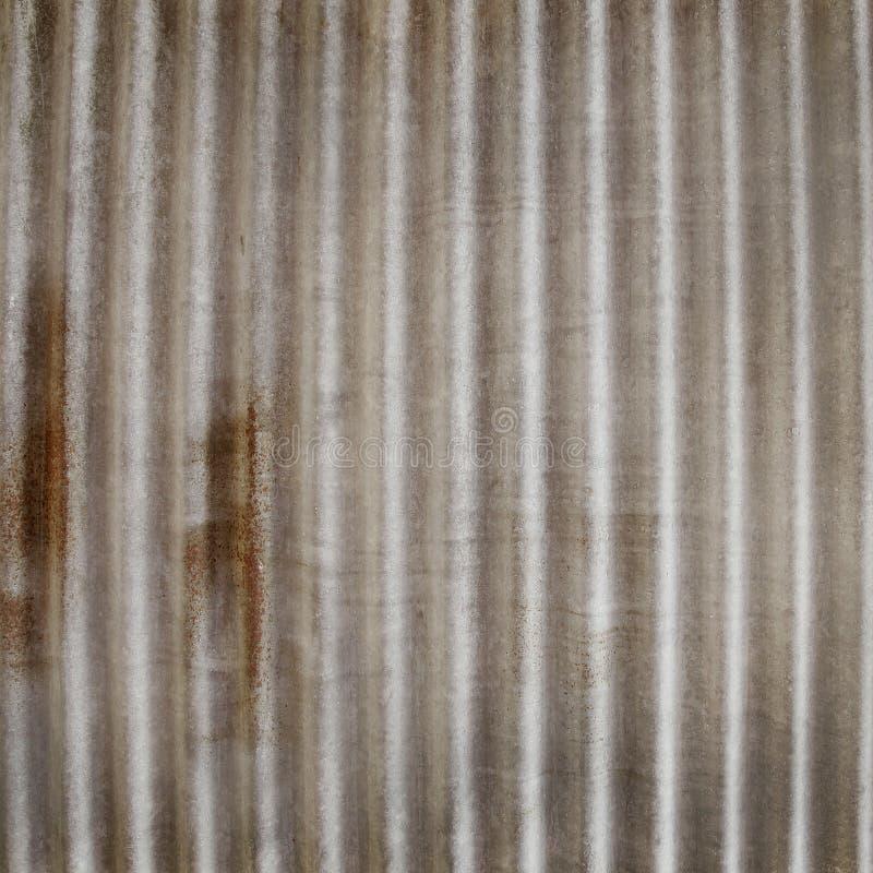 Cynkowy tekstury tło Ośniedziały na galwanizującym metalu zdjęcia stock