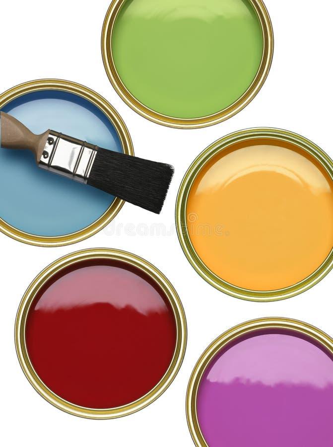 CYNY farba Z muśnięciem NA BIAŁYM tle obrazy stock