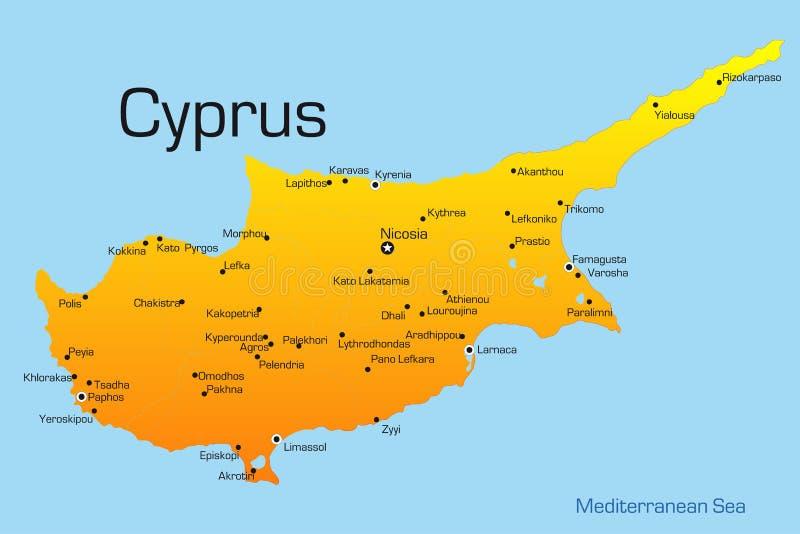 Cypern vektor illustrationer