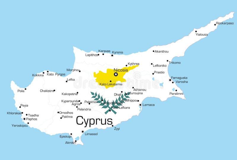 Cypern royaltyfri illustrationer