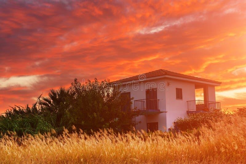 Cypern färgrik soluppgång fotografering för bildbyråer