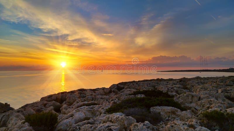 Cypern härlig soluppgång fotografering för bildbyråer