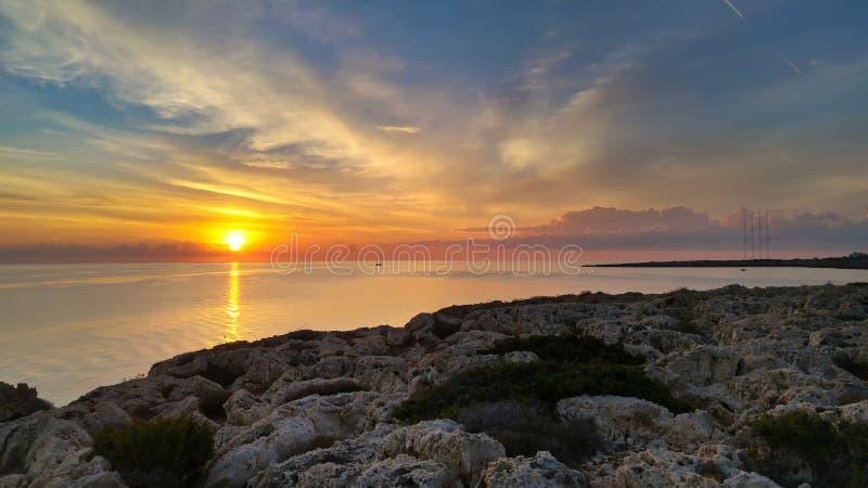 Cypern härlig soluppgång arkivbilder