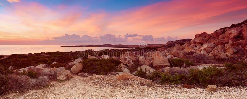 Cypern härlig soluppgång royaltyfri foto
