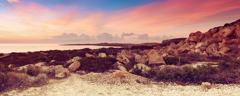 Cypern härlig soluppgång royaltyfria bilder