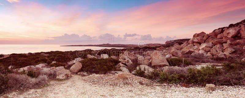 Cypern härlig soluppgång arkivfoto