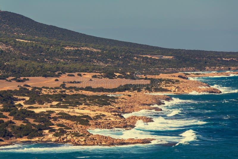 Cypern kust royaltyfri fotografi
