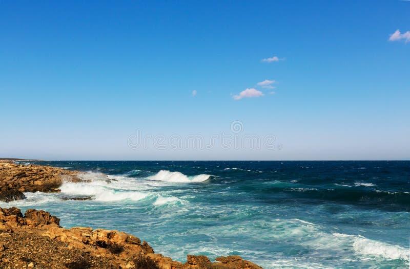 Cypern kust arkivfoto