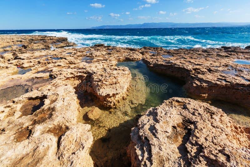 Cypern kust arkivbilder