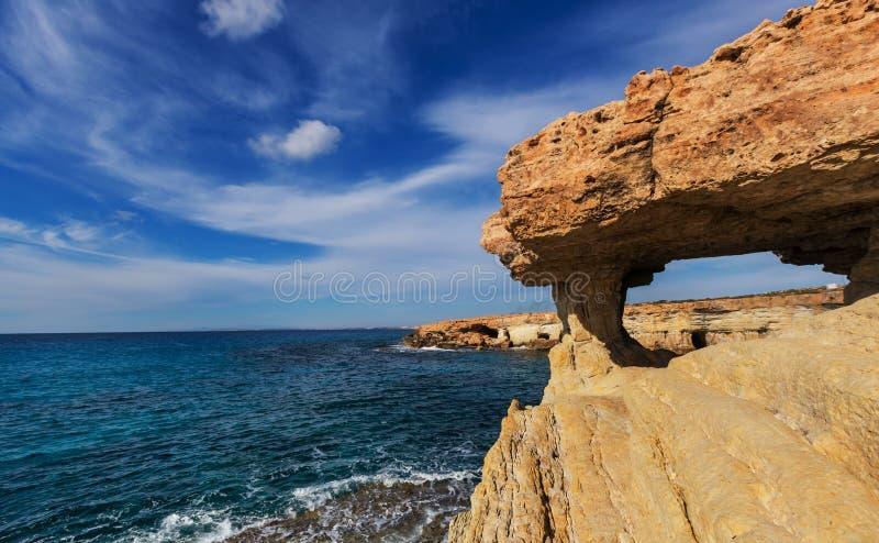 Cypern kust fotografering för bildbyråer