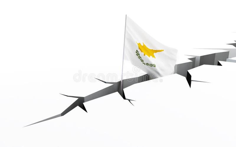 Cypern sjunker sprickan i det slipat stock illustrationer
