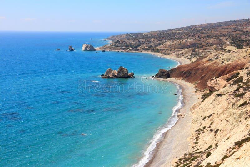 Cypr Aphrodites skała obrazy royalty free