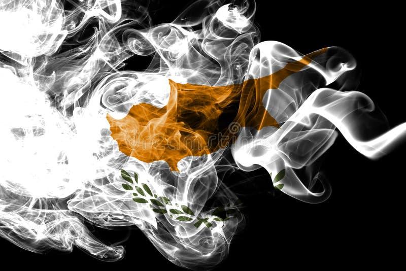 Cypr dymu flaga, wyspa kraj w Wschodni Śródziemnomorskim ilustracja wektor