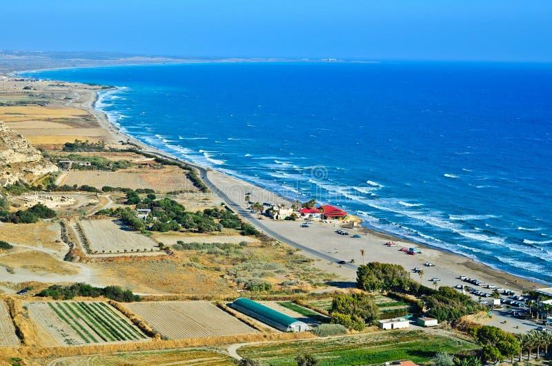Cypr linia brzegowa zdjęcia stock