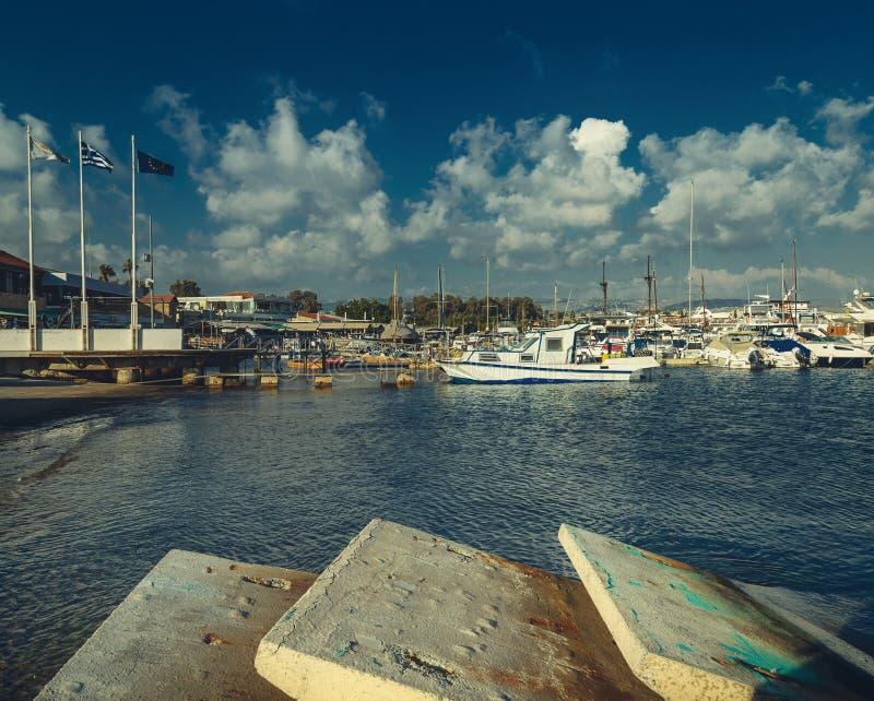 Cypr Paphos port morski obraz royalty free