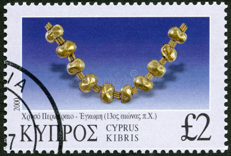 CYPR - 2000: przedstawienie Różnorodni kawałki biżuteria, serii biżuteria fotografia stock