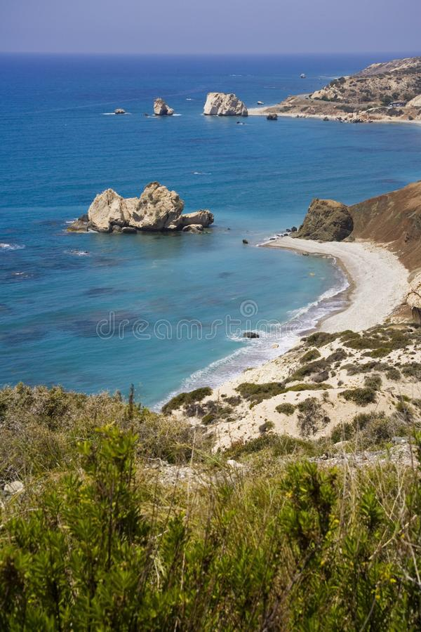 Cypr, skała Aphrodite obrazy stock