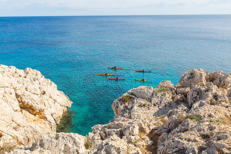 Cypr wybrzeże obraz stock