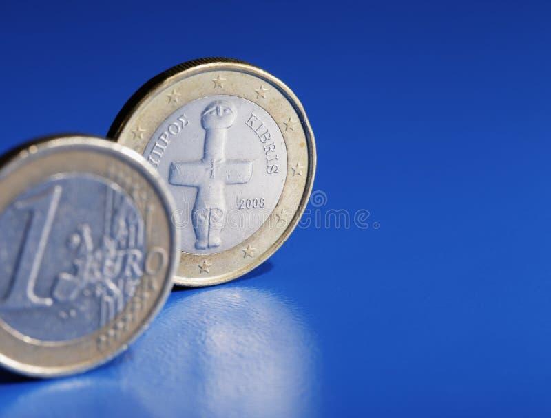 Cypriotic euro royaltyfri fotografi