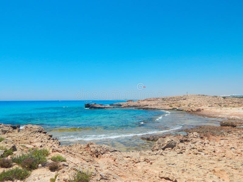 Cypriotisk strand royaltyfri bild